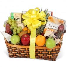 Fruit, Gourmet Cheese & Cracker Basket