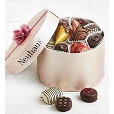Neuhaus Belgian Chocolate Pink Luxury Hat Box